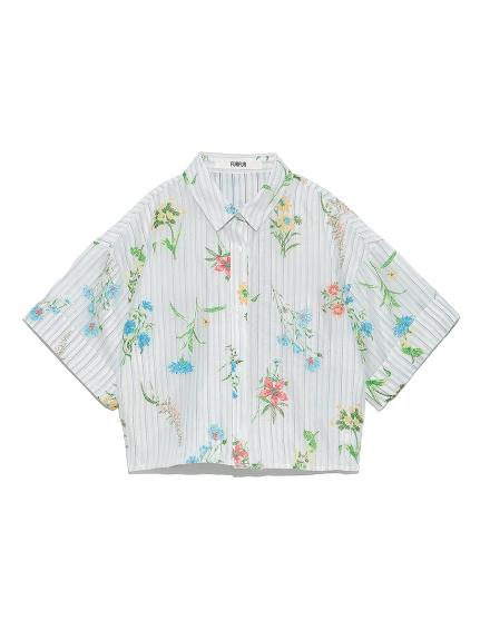フラワーオパールシャツ(WHT-F)