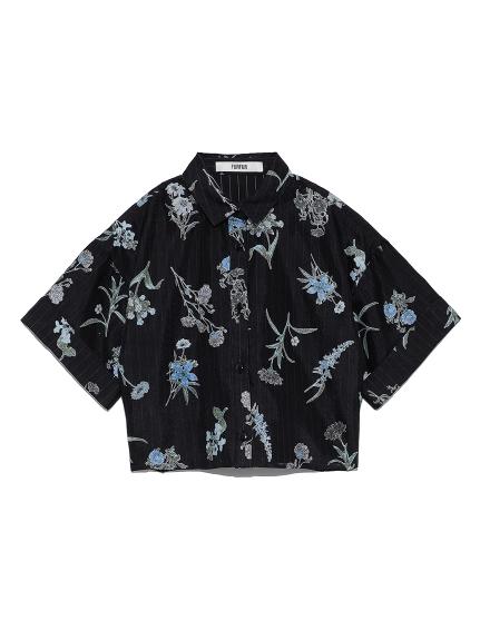 フラワーオパールシャツ(BLK-F)