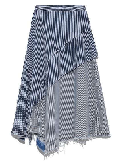 アシメペプラムデニムスカート