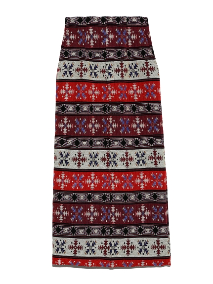 ジャガードロングタイトスカート