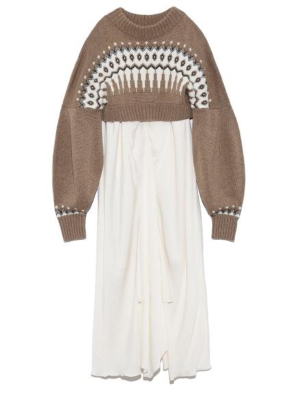 ノルディックリバーシブルニットドレス(BRW-F)